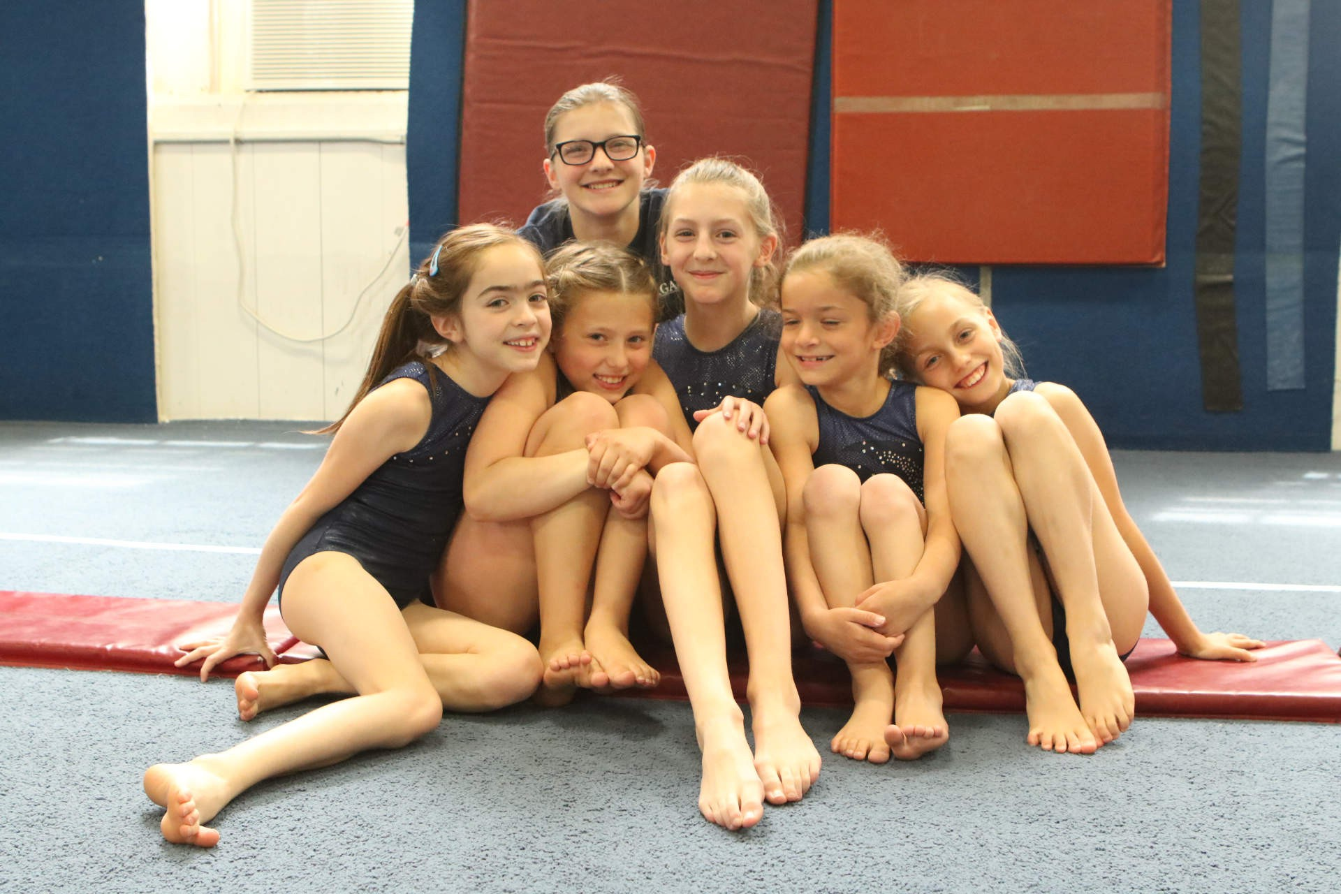 Some of our Gymnasts at a home meet