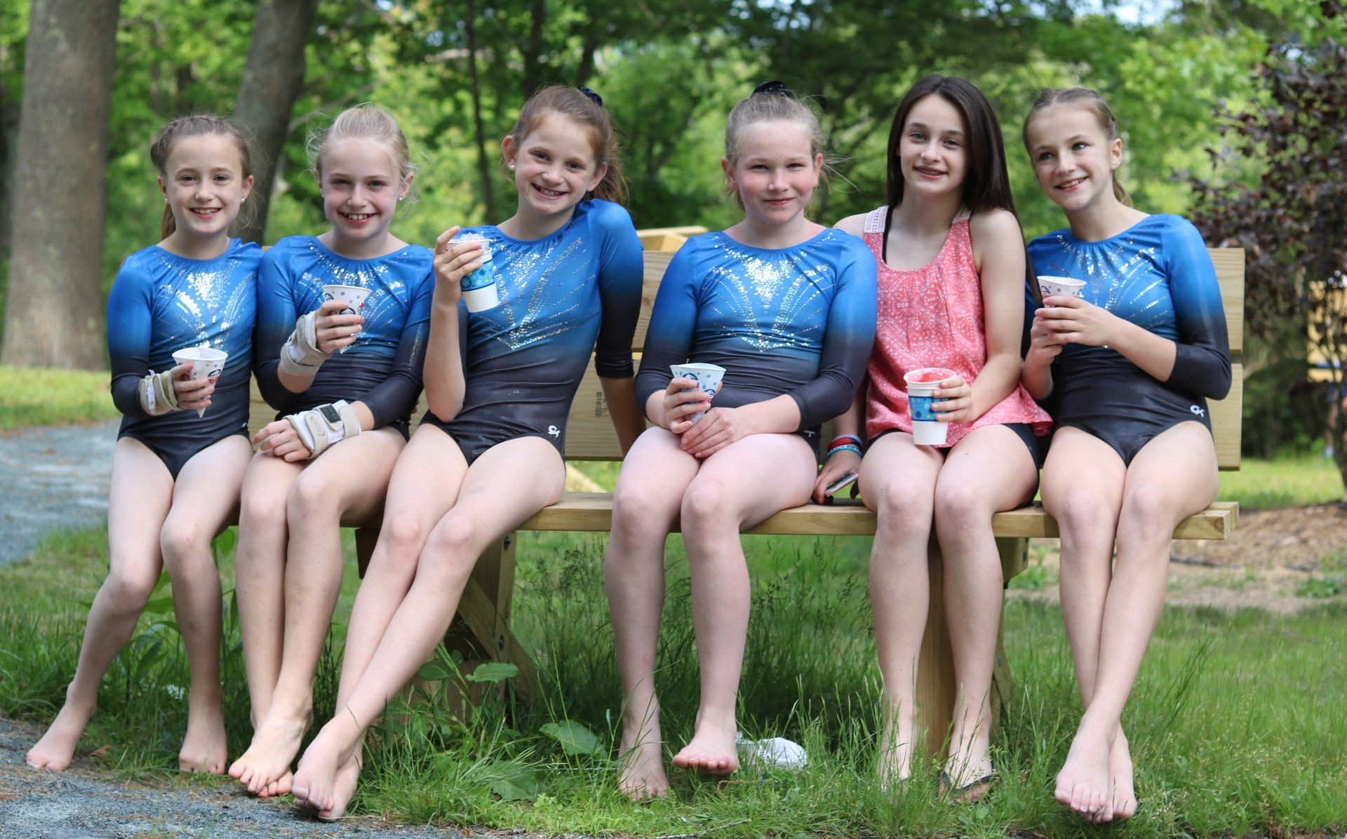 Summer girls gymnastics